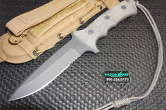 Chris Reeve Knives Green Beret Bill Harsey Knife Fixed Blade Gray Serrated