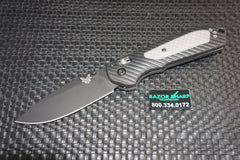 Benchmade 560BK Freek AXIS Lock Knife Black/Gray Black Plain Edge