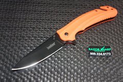 Kershaw 8650 Barricade Assisted Opening Knife Orange Rescue Black Knife