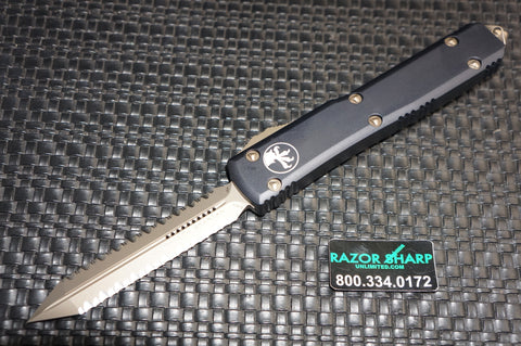Microtech 223-D15 Spartan OTF Automatic Knife Bronzed Full Serrated