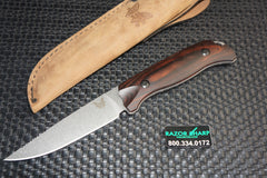 Benchmade 15007-2 Saddle Mountain Hunter Knife Wood Fixed Blade