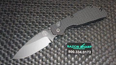 Strider 2307 Protech PT Automatic Knife Knurled Aluminum Black Plain
