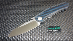 Zt-Zero Tolerance 0850 Sub-Frame Lock Knife Blue Carbon Fiber Satin