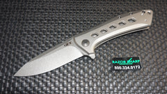 Zt Zero Tolerance 0801TI  Rexford  Titanium Flipper Knife Stonewash Plain