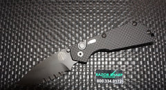 Strider 2408 Protech SNG Automatic Knife Knurled Black Aluminum Black Serrated