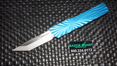 Brian Tighe 001301-2 Small Blue Twist Tighe T/E OTF Automatic Knife