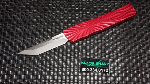 Brian Tighe 001300-2 Small Red Twist Tighe T/E OTF Automatic Knife