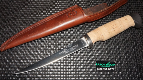 "White River Knives Fillet Knife 6"" 440C Blade Cork/Micarta Handle WRF6-CRKMC"