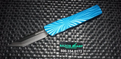 Brian Tighe 001301-5 Small Blue Twist Tighe DLC T/E OTF Automatic Knife