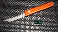 Microtech 123-10OR Orange Ultratech D/A OTF Tanto Automatic Knife Stonewash