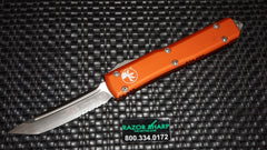 Microtech 123-5OR Orange Ultratech D/A OTF Tanto Automatic Knife Serrated