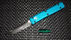 Microtech 123-2TQ T/E Turquoise Ultratech Automatic Knife OTF Black Serrated