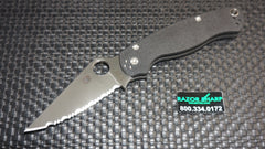 Spyderco C81GS2 Paramilitary 2 Knife Black G-10 Satin Full Serrated