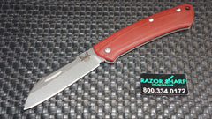Benchmade 319-1 Proper Slip Joint Knife Sheepfoot Plain Contoured Red G10