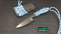 White River Knives Backpacker Fixed Blade Aqua Paracord S30V Kydex Sheath