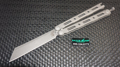 Benchmade 87 Ti Bali-Song Butterfly Knife Titanium Satin Plain