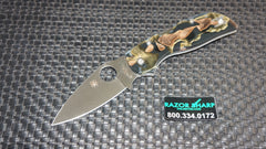 Spyderco C152RNP Chaparral Folding Knife Raffir Noble Brass/Acrylic Satin