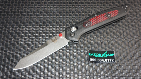 Benchmade 940-1701 Osborne AXIS Lock Black G10 Red Translucent C-Tek