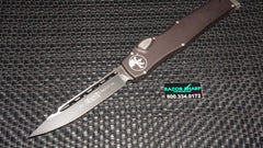 Microtech 251-1 Halo VI S/E Drop Point OTF Automatic Knife Black Plain Edge