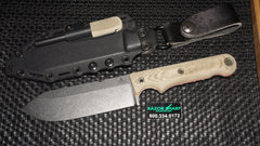 White River FC5 Firecraft Fixed Blade Knife OD Green w/ Kydex Sheath