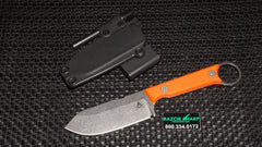 White River Knives FC3.5 Pro Firecraft Fixed Blade Knife Orange G-10 Stonewash Plain