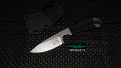 White River Knife and Tool M1 Black Paracord Backpacker S35VN Stonewash