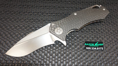 Marfione Custom Knives Star Lord Flipper Carbon Fiber Tri-Tone Hand Polished