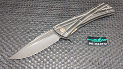 Microtech Marfione Custom Knives Closer KOJI HARA Titanium Black DLC