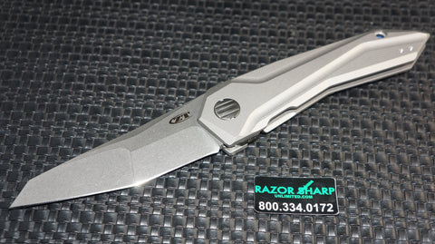 Zt Zero Tolerance GTC 0055 Flipper Knife Titanium Stonewash Plain Edge