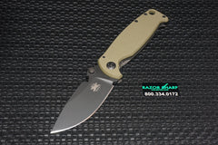 DPx HEST 2.0 Knife Survival Blade OD Green G10 / Titanium Black RH