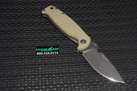 DPx HEST 2.0 Left Handed Knife Survival Blade OD Green G10/Ti