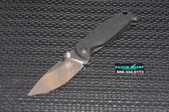 DPx Gear HEST/F Milspec Folder Black G10 Knife Stonewash Plain