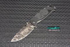 DPx HEST/F Mr. DPX Black Limited Edition Titanium Folder Knife Gray Niolox