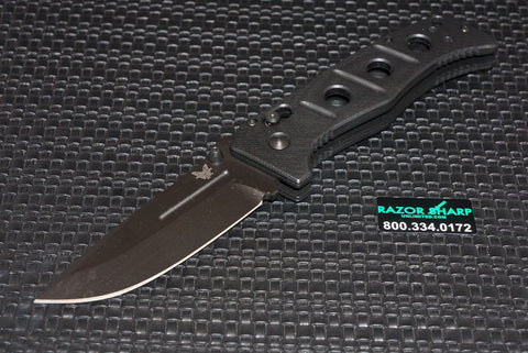 Benchmade 2750BK Adamas Automatic Axis Black Plain Knife w/ Black Handle