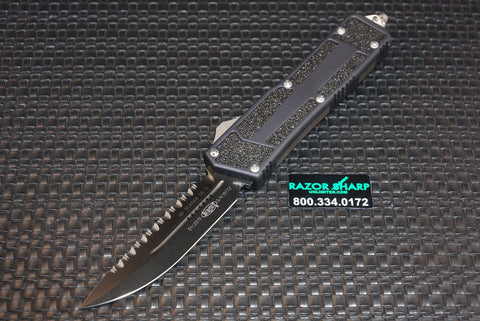 Microtech 180-3 QD Scarab D/E-Serrated OTF Automatic Knife Black Edge