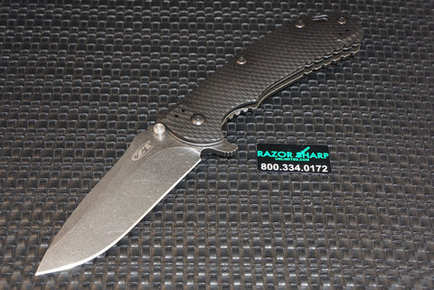 Zt Zero Tolerance 0560BW Knife Hinderer Flipper BlackWash Plain Edge