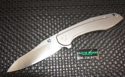 Brad Southard Performance Tolk Flipper Knife Blasted Titanium Satin Plain