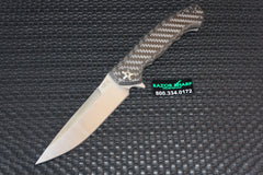 ZT Zero Tolerance 0452CF Flipper Knife Carbon Fiber Satin Plain Edge