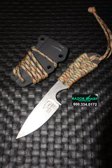 White River Knives Backpacker Fixed Blade Treestand Camo Paracord Kydex Sheath