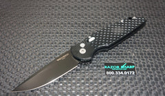 Protech TR-3X1M Military Issue Automatic Knife Fish Scale Black Blade