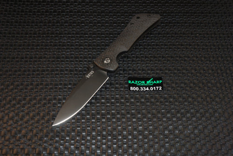 Southern Grind Spider Monkey Folding Black Drop Point Carbon Fiber Handle