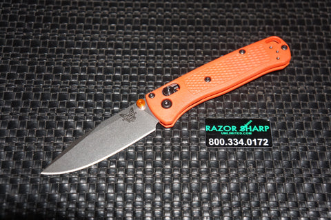 Benchmade 533 Mini Bugout AXIS Lock Knife Orange Grivory S30V Drop Point