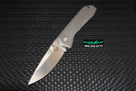 Benchmade Knife 761 Titanium Framelock Knife Satin Plain M390
