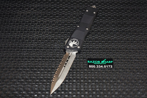 Microtech 138-12 Troodon D/E OTF Automatic Knife Stonewash Full Serrated