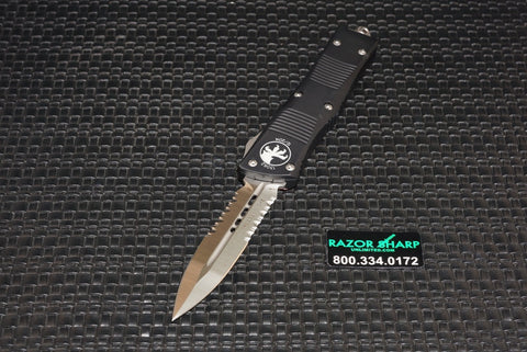 Microtech 138-5 Troodon D/E OTF Automatic Knife Satin Serrated 138-5