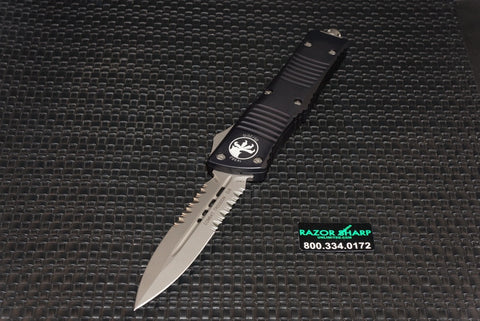 Microtech 142-8 Combat Troodon D/E OTF Automatic Knife Bead Blast Serrated 142-8