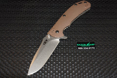 Zt Zero Tolerance 0561 Knife Hinderer Flipper Brown G-10 StoneWash Plain