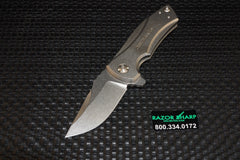 Zt Zero Tolerance 0900 Flipper Knife Titanium Stonewash Plain Edge