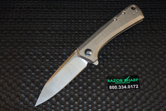 Zt Zero Tolerance 0808 Flipper Knife Titanium Satin Plain