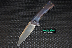 Zt Zero Tolerance 0808 Flipper Knife Custom Color Titanium Satin Plain